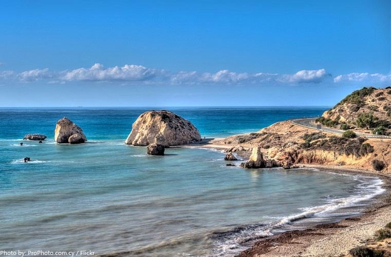 aphrodite's rock beach