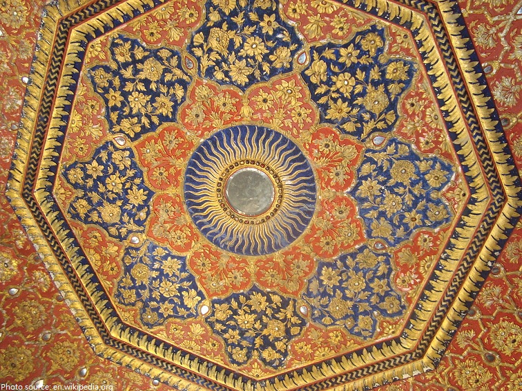 ceiling of the golden temple