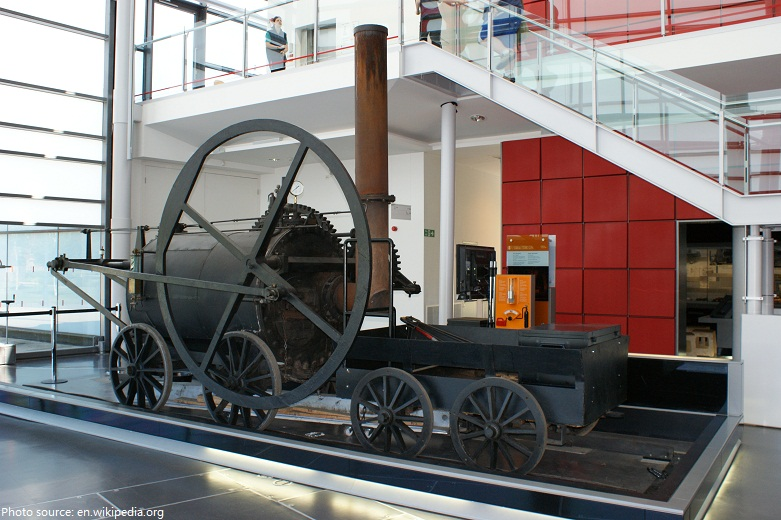 first railway steam locomotive