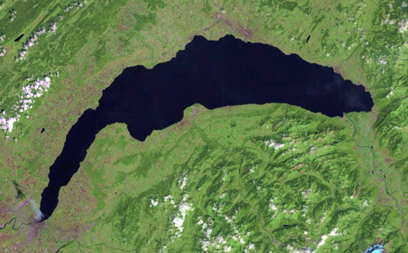 lake geneva from space