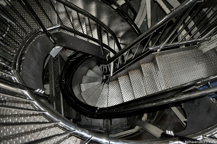 statue of liberty staircase