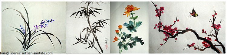 chrysanthemum four gentlemen