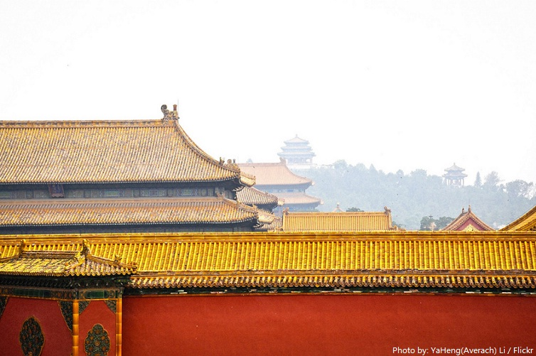 forbidden city roofs