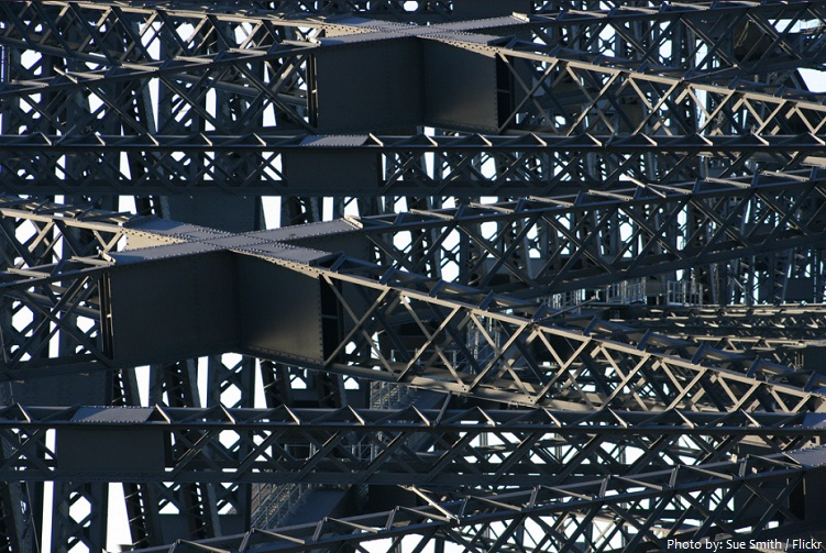 sydney harbour bridge abstract