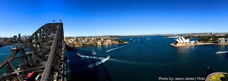 sydney harbour bridge view