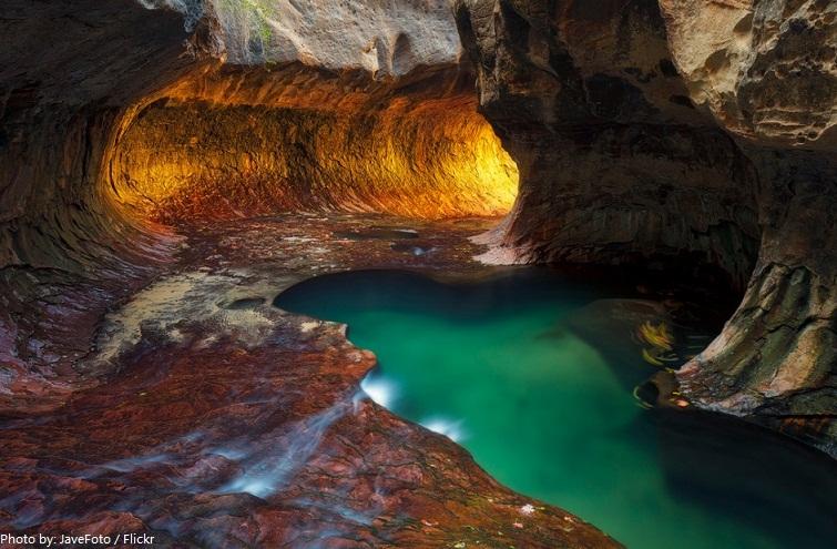 zion national park cave
