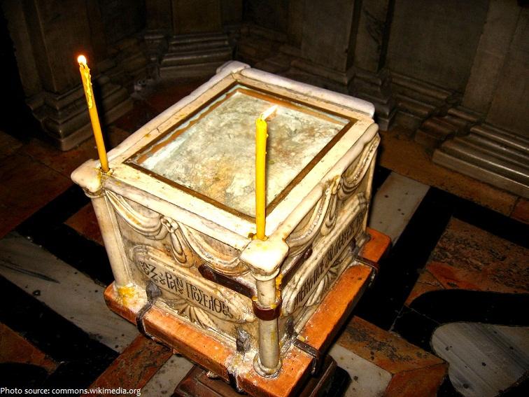jerusalem angel stone holy sepulchre