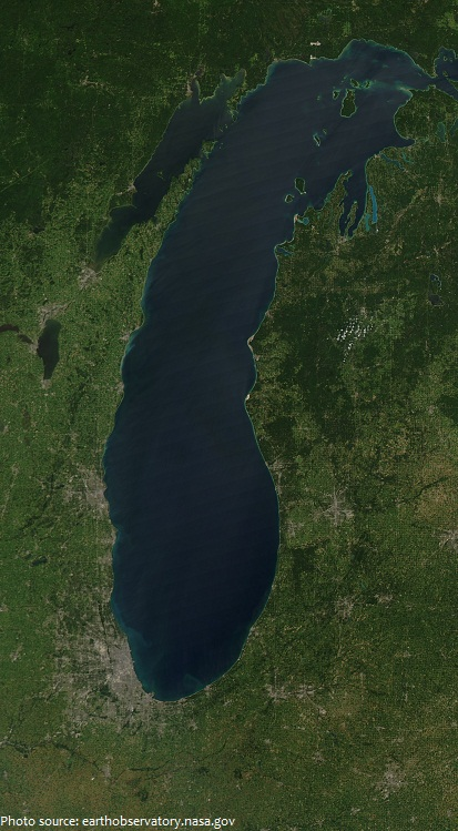 lake michigan from space