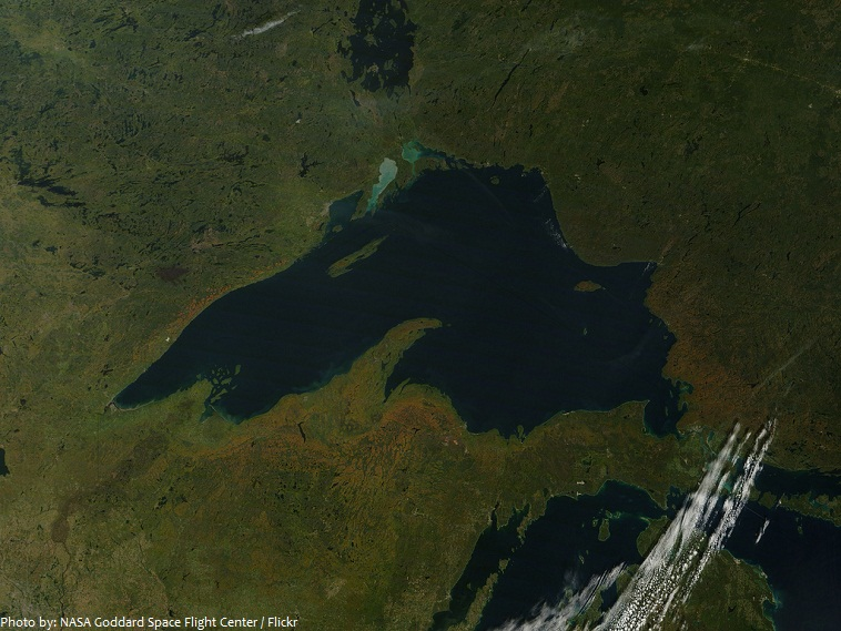 lake superior from space