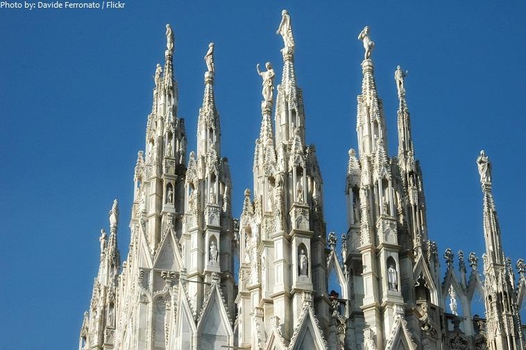 milan cathedral spires