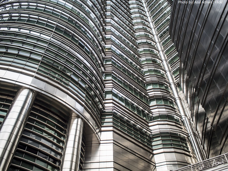 petronas towers close-up