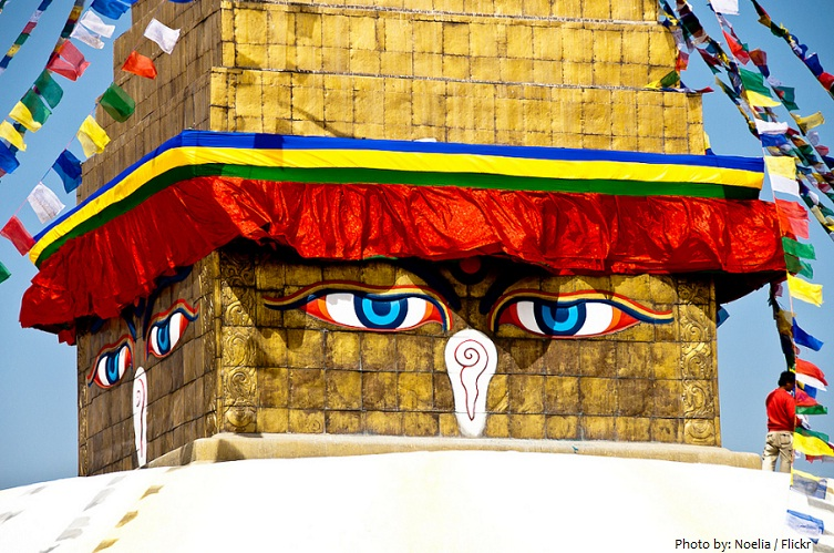 boudhanath eyes