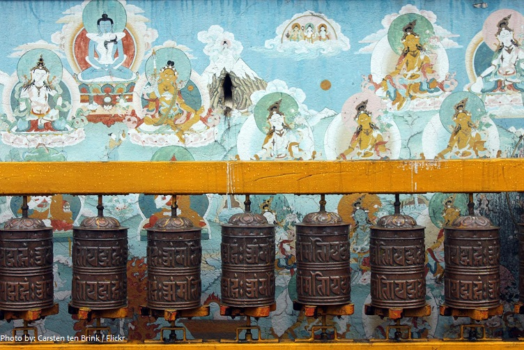 boudhanath prayer wheels