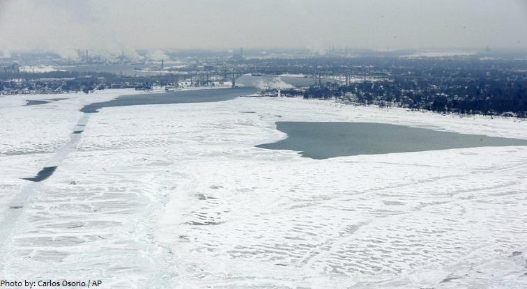 lake huron from frozen