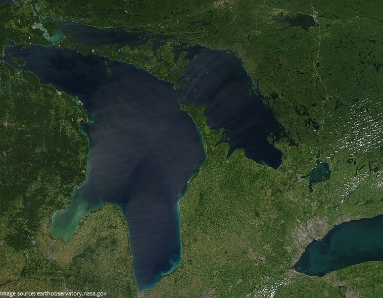 lake huron from space