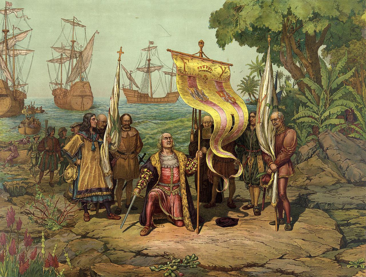 columbus taking possession dominican republic