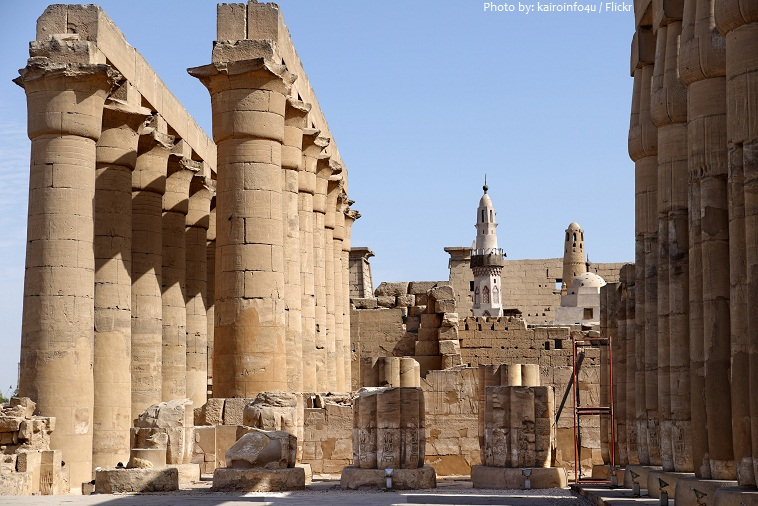 luxor temple colonnade