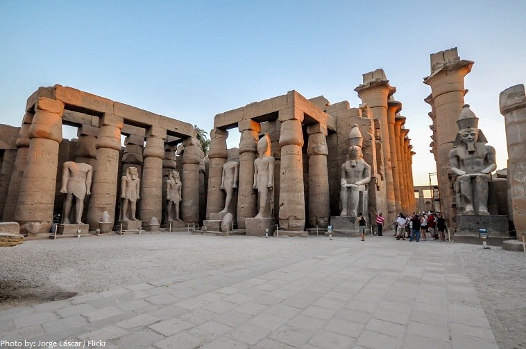 luxor temple courtyard of ramesses II