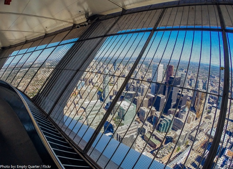 cn tower glass outdoor observation deck