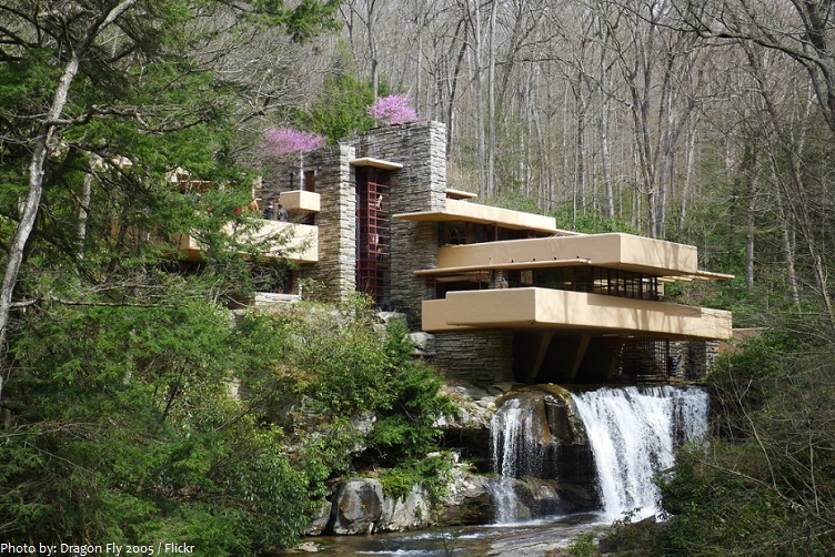 interesting facts about fallingwater just fun facts. Black Bedroom Furniture Sets. Home Design Ideas
