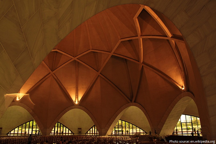 lotus temple inside