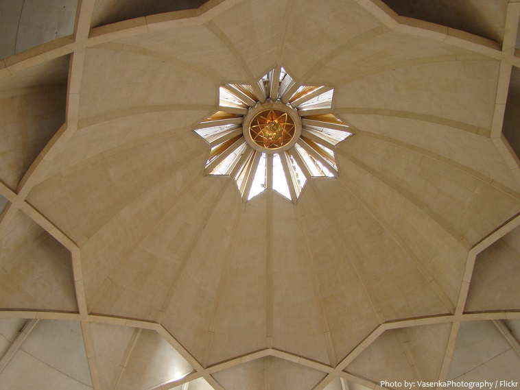 lotus temple roof