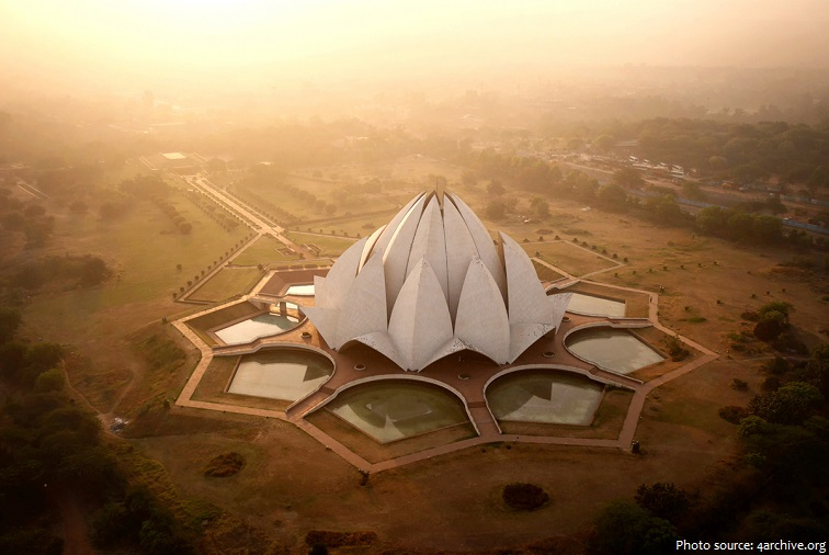 lotus temple top view