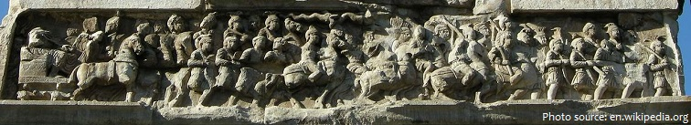 arch of constantine frieze