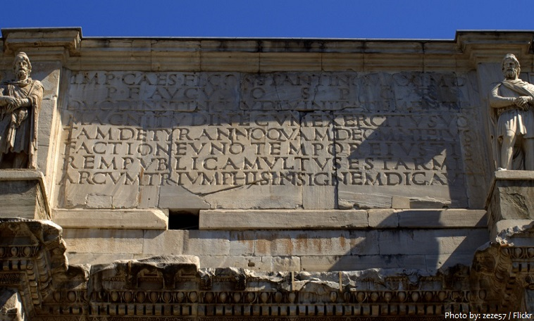 arch of constantine inscription