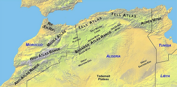 atlas mountains map