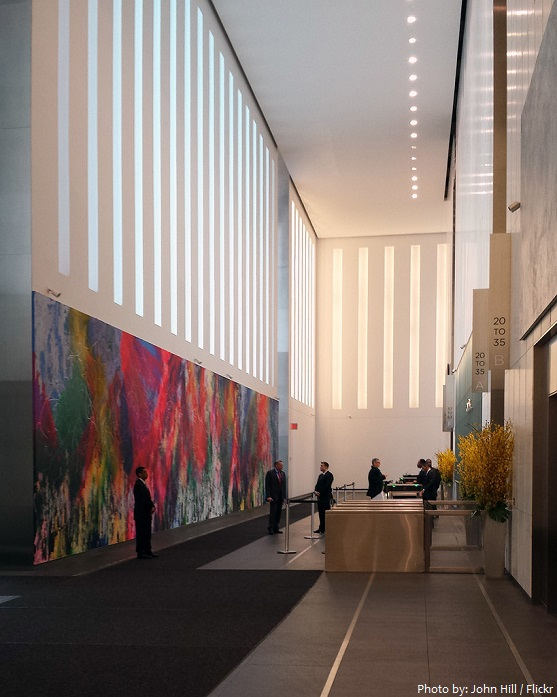 one world trade center lobby