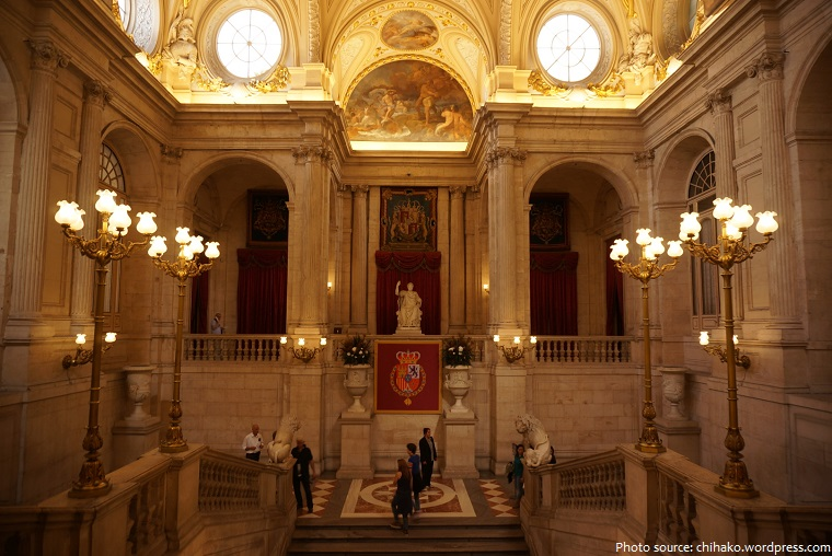 royal palace of madrid grand staircase