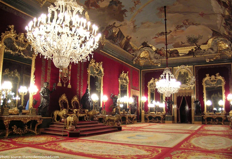 royal palace of madrid throne room