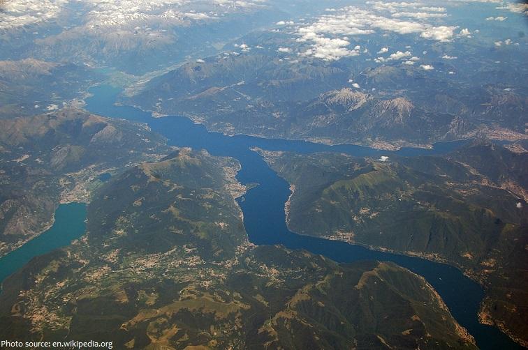 lake como aerial