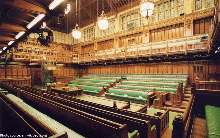 palace of westminster commons chamber