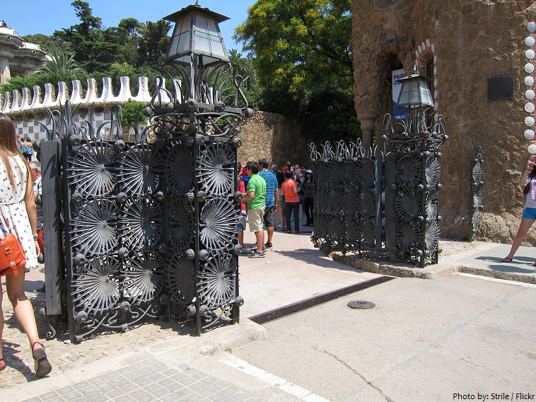 park guell iron gate