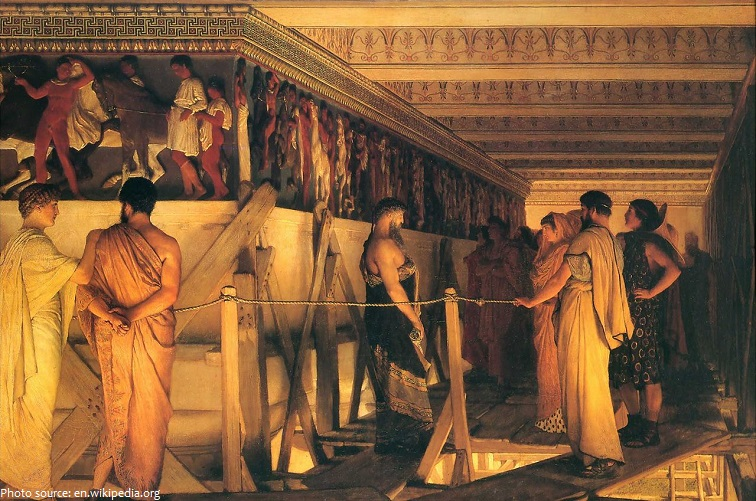parthenon painting by lawrence alma tadema