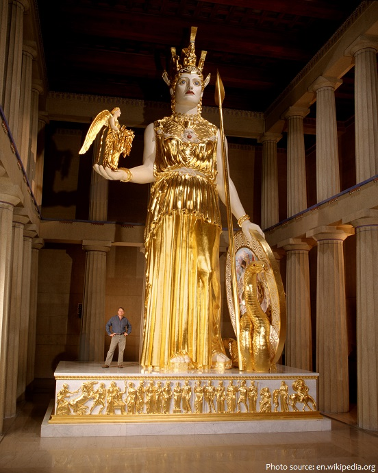 reproduction athena parthenos statue