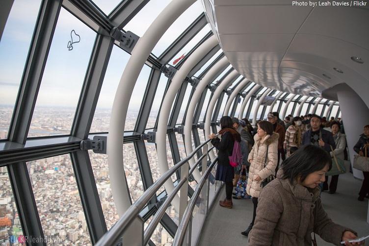 tokyo skytree observation deck 450 meters