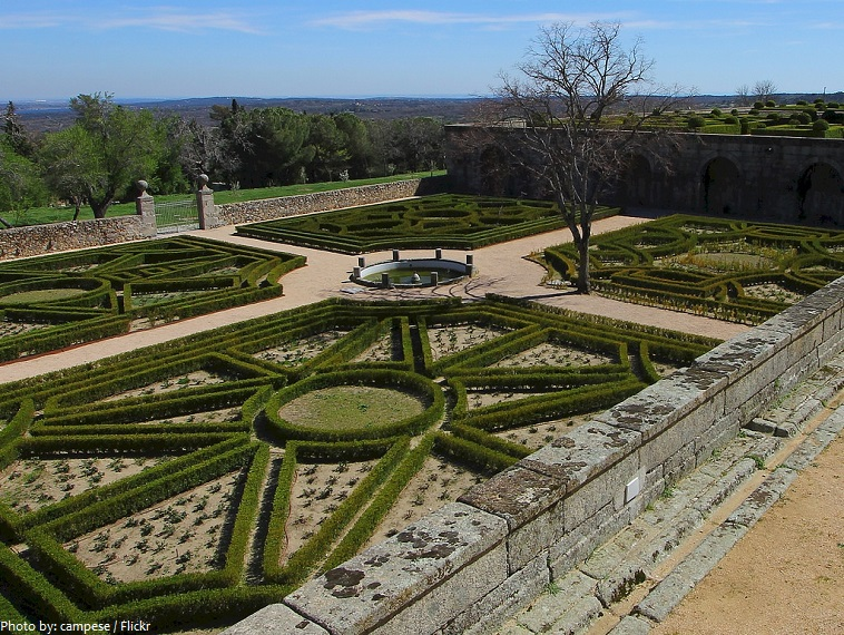 el escorial garden of the friars