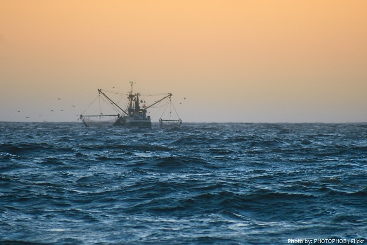Fishing boat in the North Sea