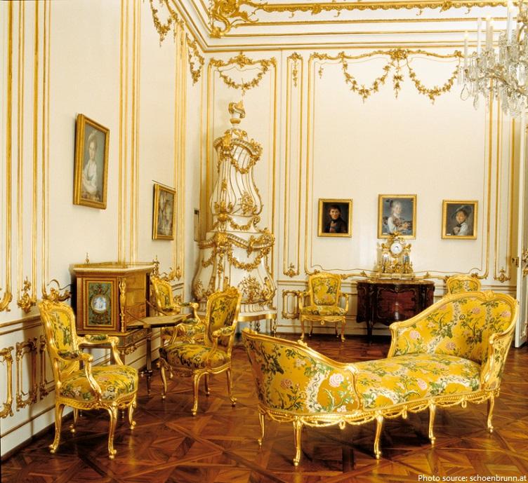 schönbrunn palace yellow salon