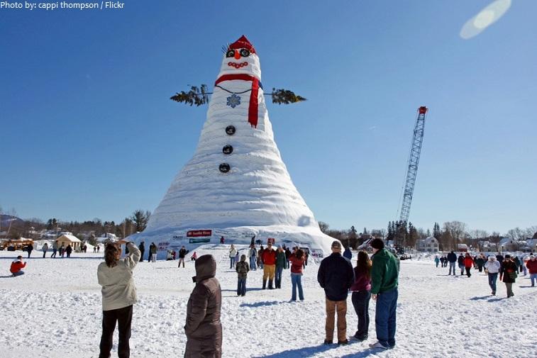 worlds tallest snowman