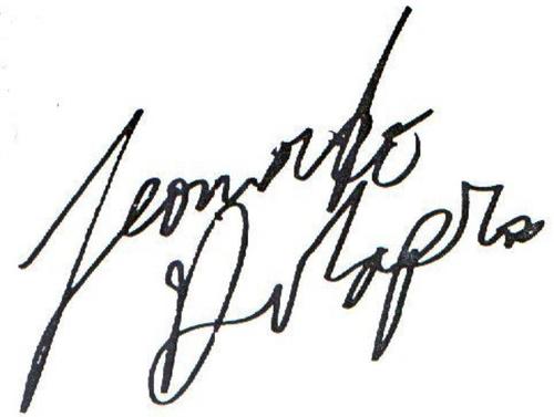 Leonardo DiCaprio signature