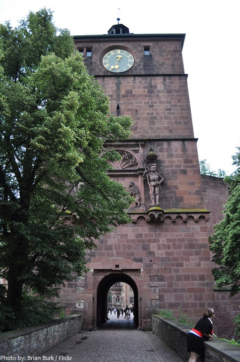 heidelberg castle main gate