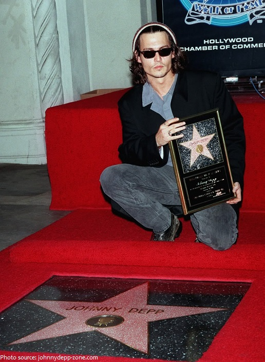 johnny depp received his star on the hollywood walk of fame