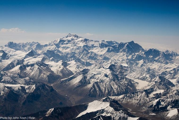 kangchenjunga aerial