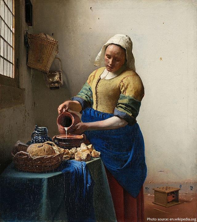 the milkmaid johannes vermeer