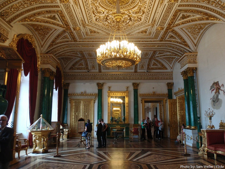 winter palace malachite room