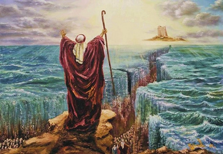 israelites crossing the red sea